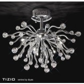 Diyas Tizio Ceiling 10 Light Polished Chrome/Crystal