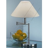 Franklite Swing Arm Table Lamp - Satin Nickel, Complete with Shade
