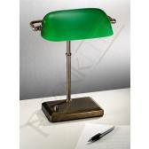 Franklite Bankers Lamp - Bronze, Complete with Green Glass