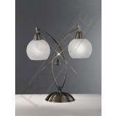 Franklite Thea Table Lamp - 2 Light, Bronze