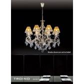 Diyas Torino Pendant 8 Light Round Polished Gold Plated/Crystal