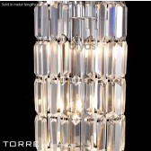 Diyas Torre 1 Meter Crystal Polished Chrome