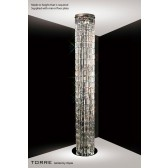 Diyas Torre Pendant 4 Light Polished Chrome/Crystal