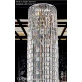Diyas Torre Pendant 7 Light Polished Chrome/Crystal
