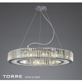 Diyas Torre Pendant 10 Light Polished Chrome/Crystal