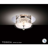 Diyas Tosca Ceiling Round 4 Light Polished Chrome/Crystal