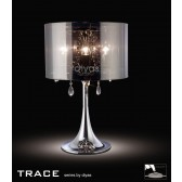 Diyas Trace Table Lamp 3 Light Polished Chrome/PVC /Crystal