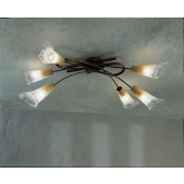 Treviso Flush Ceiling Light - 6 Light, Copper Red