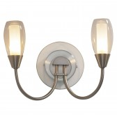 Tugel Wall Light - 2 Light Satin Chrome