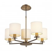 Tyler 5 Light Height Adjustable Pendant Bronze