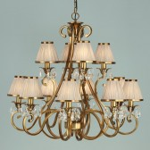 Interiors1900 Oksana 12-Light Antique Brass Chandelier