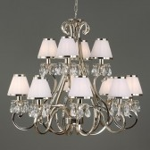 Interiors1900 Oksana 12-Light Chandelier, White