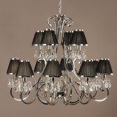 Interiors1900 Oksana 12-Light Chandelier, Black
