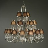 Interiors1900 Oksana 21-Light Chandelier, Brown