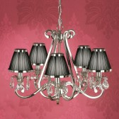 Interiors1900 Oksana 5-Light Chandelier, Black