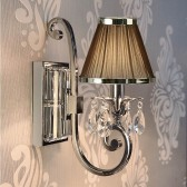 Interiors1900 Oksana Single Wall Light, Brown