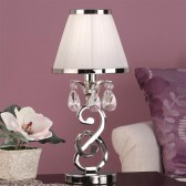 Interiors1900 Oksana Mini Lamp, White Shade
