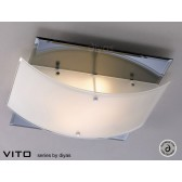 Diyas Vito Ceiling 2 Light Polished Chrome/Smoked Mirror
