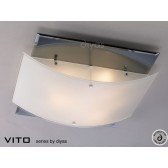 Diyas Vito Ceiling 3 Light Polished Chrome/Smoked Mirror