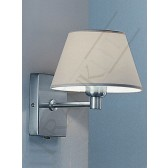Franklite Wall Bracket - Satin Nickel, Shown with Cream Shade