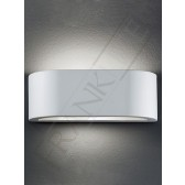 Franklite Ceramic Rounded Recatangular Wall Light - Can be painted