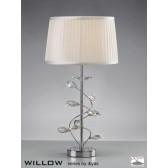 Diyas Willow Table Lamp 1 Light Polished Chrome/Crystal