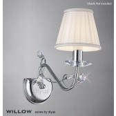 Diyas Willow Wall Lamp 1 Light Polished Chrome/Crystal