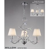Diyas Willow Pendant 3 Light Polished Chrome/Crystal