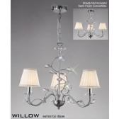 Diyas Willow Pendant 3 Light Polished Chrome/Crystal