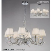 Diyas Willow Pendant 8 Light Polished Chrome/Crystal