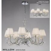 Diyas Willow Pendant 8 Light Polished Chrome/Crystal