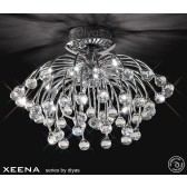 Diyas Xeena Ceiling 10 Light Polished Chrome/Crystal
