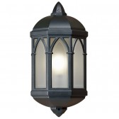 Outdoor Flush Mounted Wall Light - Black