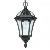 Elegant Hanging Lantern - Black with Chain