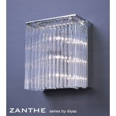 Diyas Zanthe Wall Lamp 3 Light Polished Chrome
