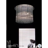 Diyas Zanthe Flush 10 Light Round Polished Chrome