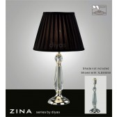 Diyas Zina Table Lamp 1 Light Polished Chrome/Crystal