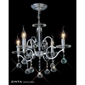 Diyas Zinta Crystal Ceiling 4 Light Chrome