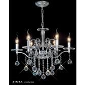 Diyas Zinta Crystal Ceiling 6 Light Chrome