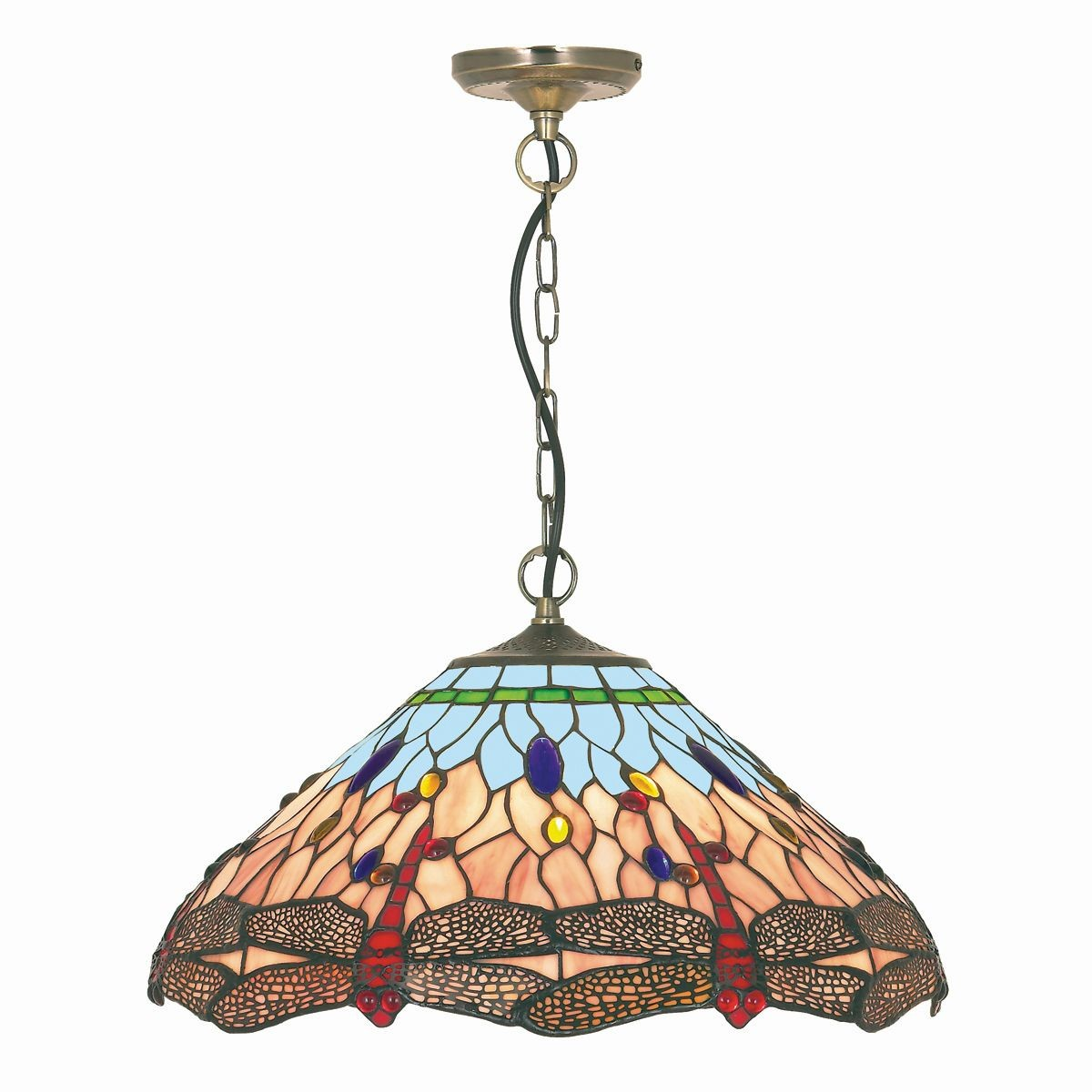 Dragonfly Tiffany Ceiling Light
