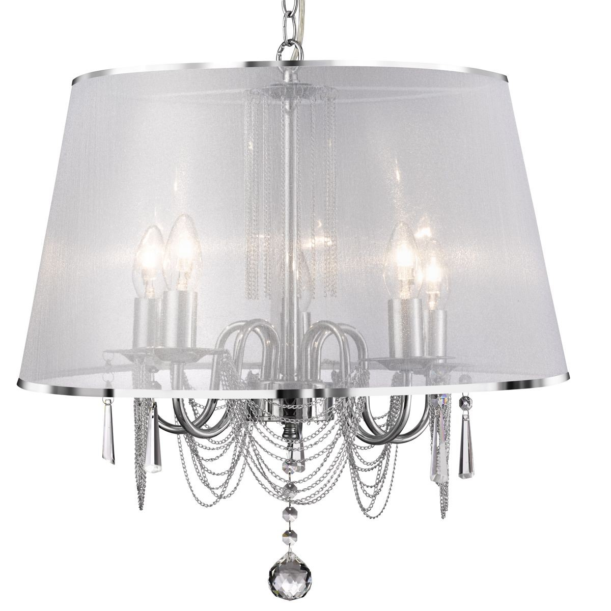 Venetian chrome ceiling light 5 light complete with shade aloadofball Gallery