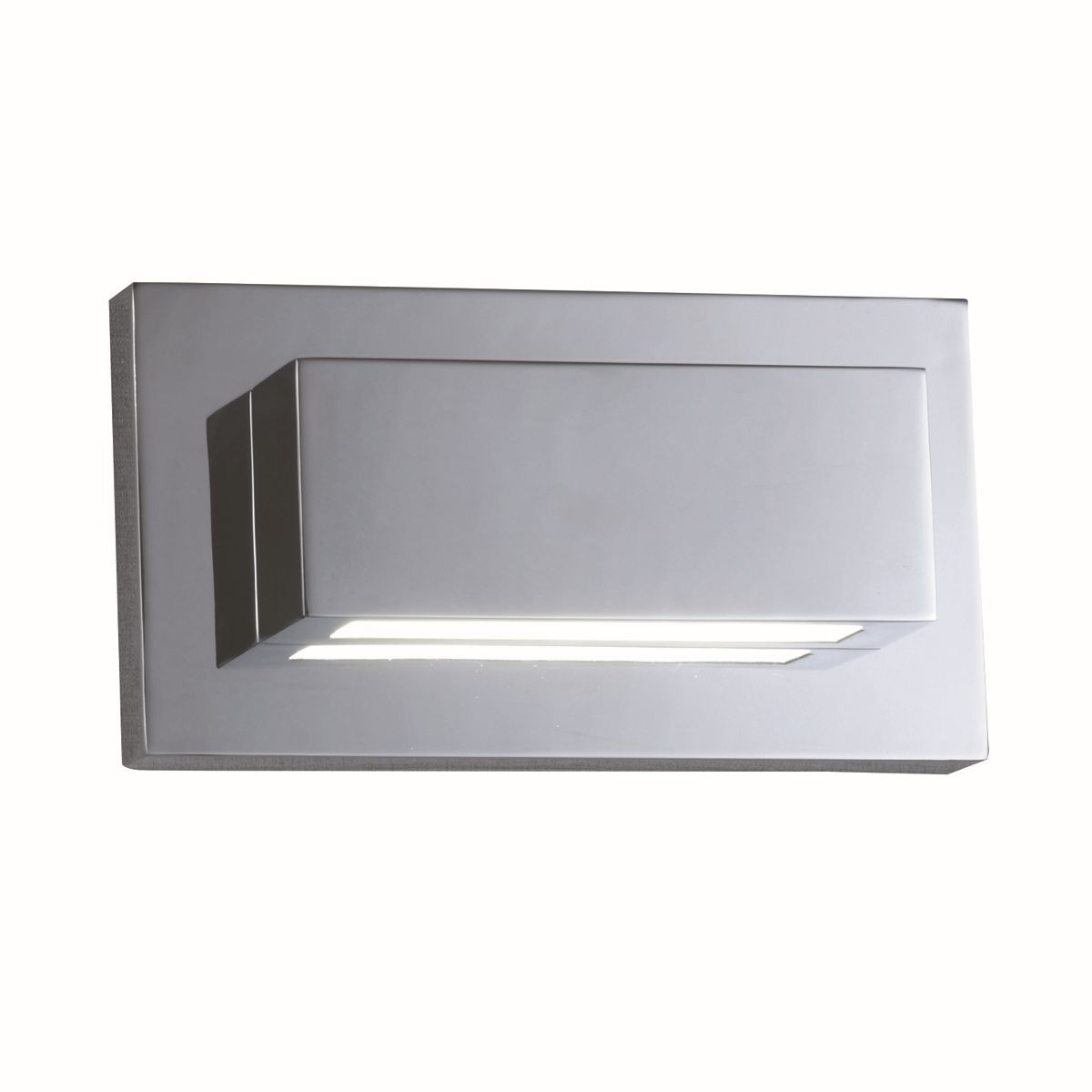 led modern wall light chrome with polycarbonate lens. Black Bedroom Furniture Sets. Home Design Ideas