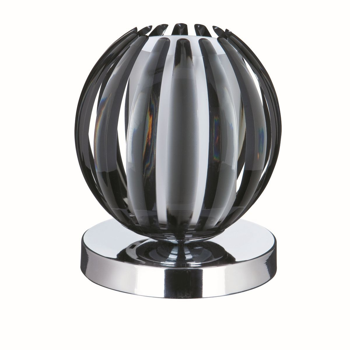 Chrome Touch Table Lamp Smoked Acrylic With Frosted Glass