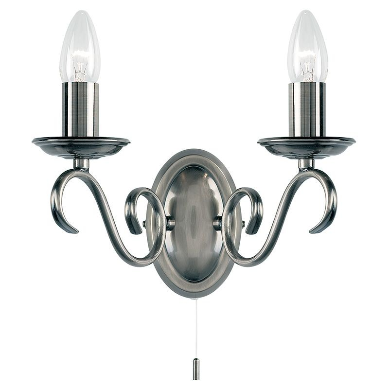 Tied Wall Light - Antique Silver (Switched)