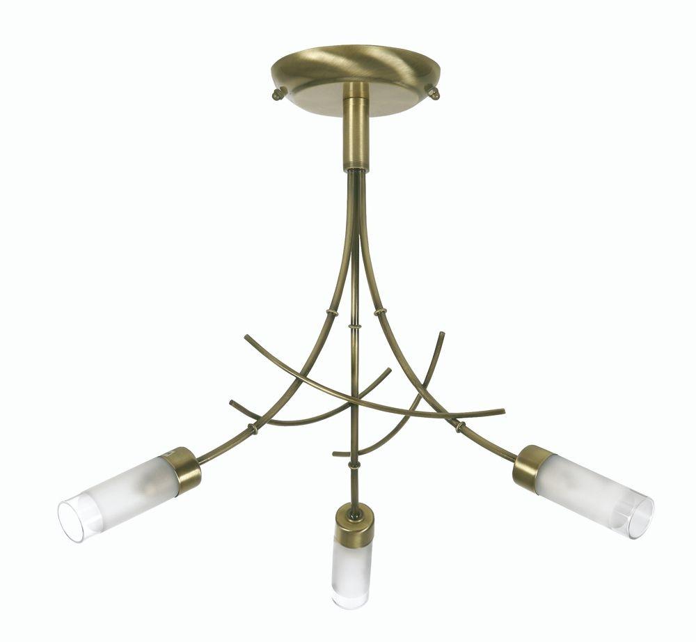 Bamboo Ceiling Light Homebase : Oslo bamboo ceiling light antique brass