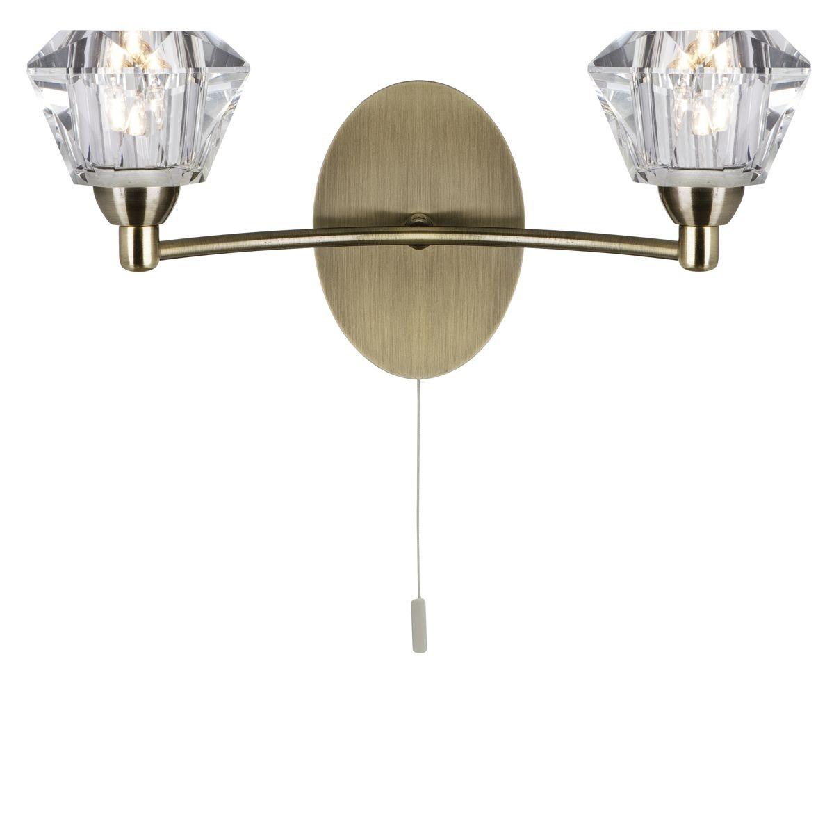 Sierra decorative wall light 2 light antique brass - Decorative wall lighting ...