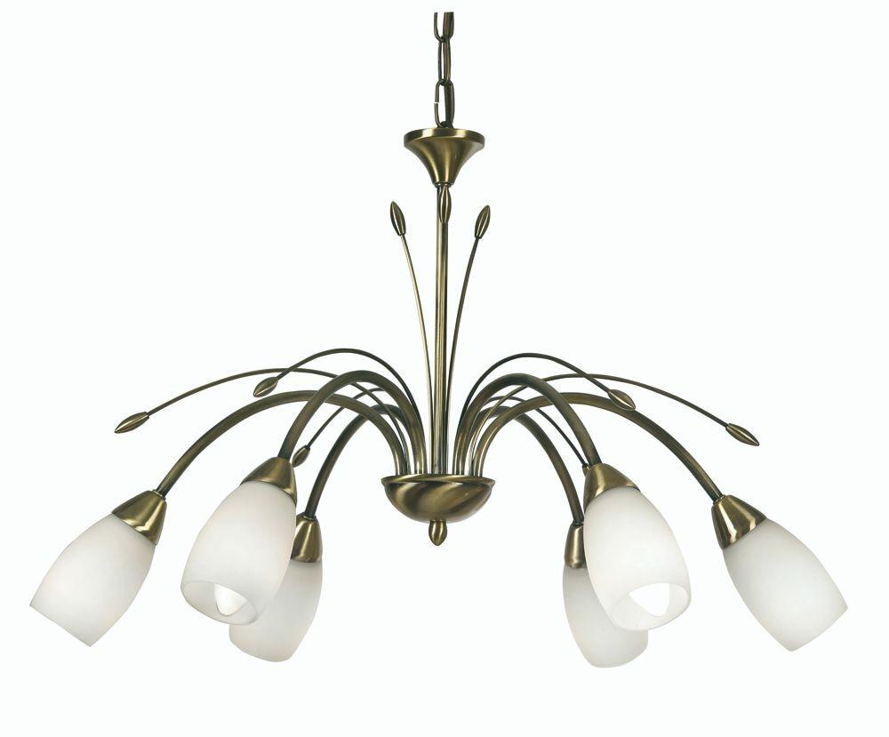 Antwerp Decorative Ceiling Light 6 Light Antique Brass