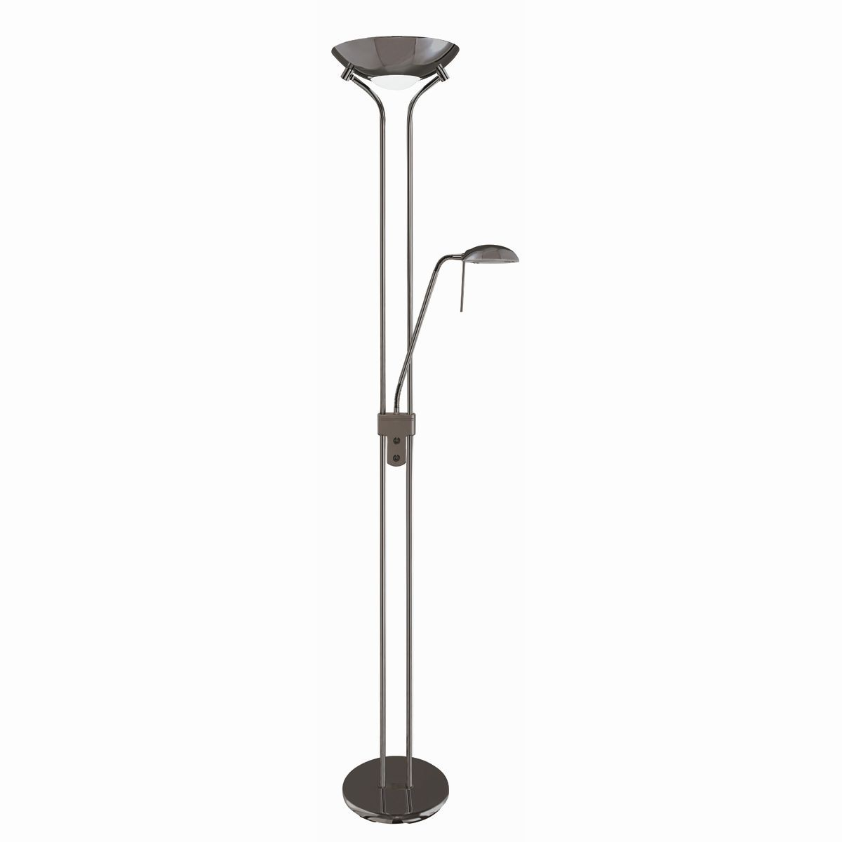 Mother Child Floor Lamp Black Chrome