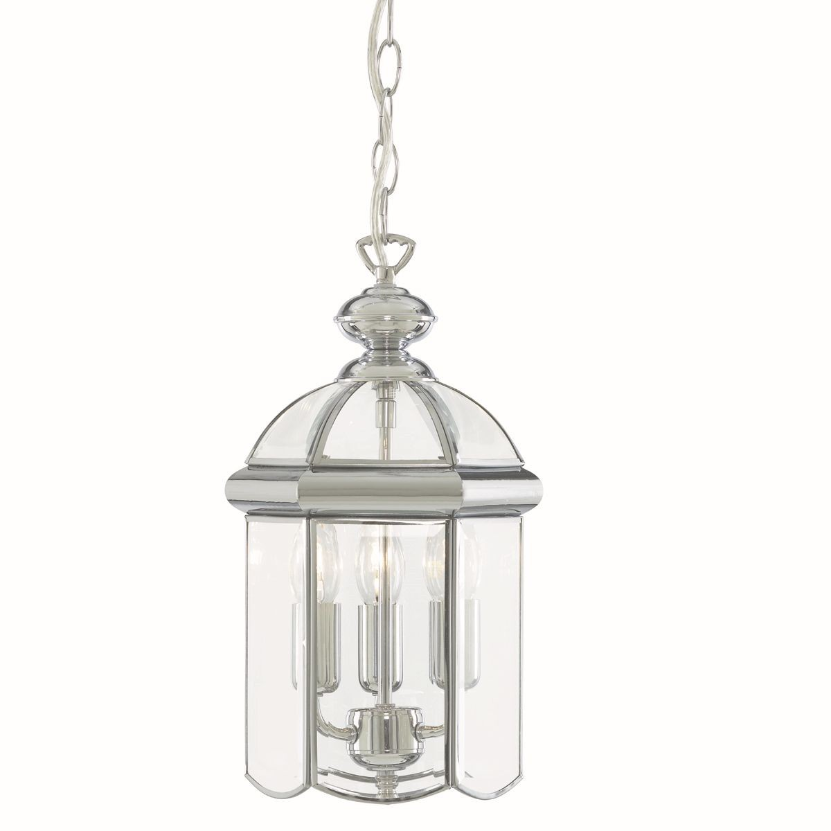 Lantern Light 3 Lamp Chrome