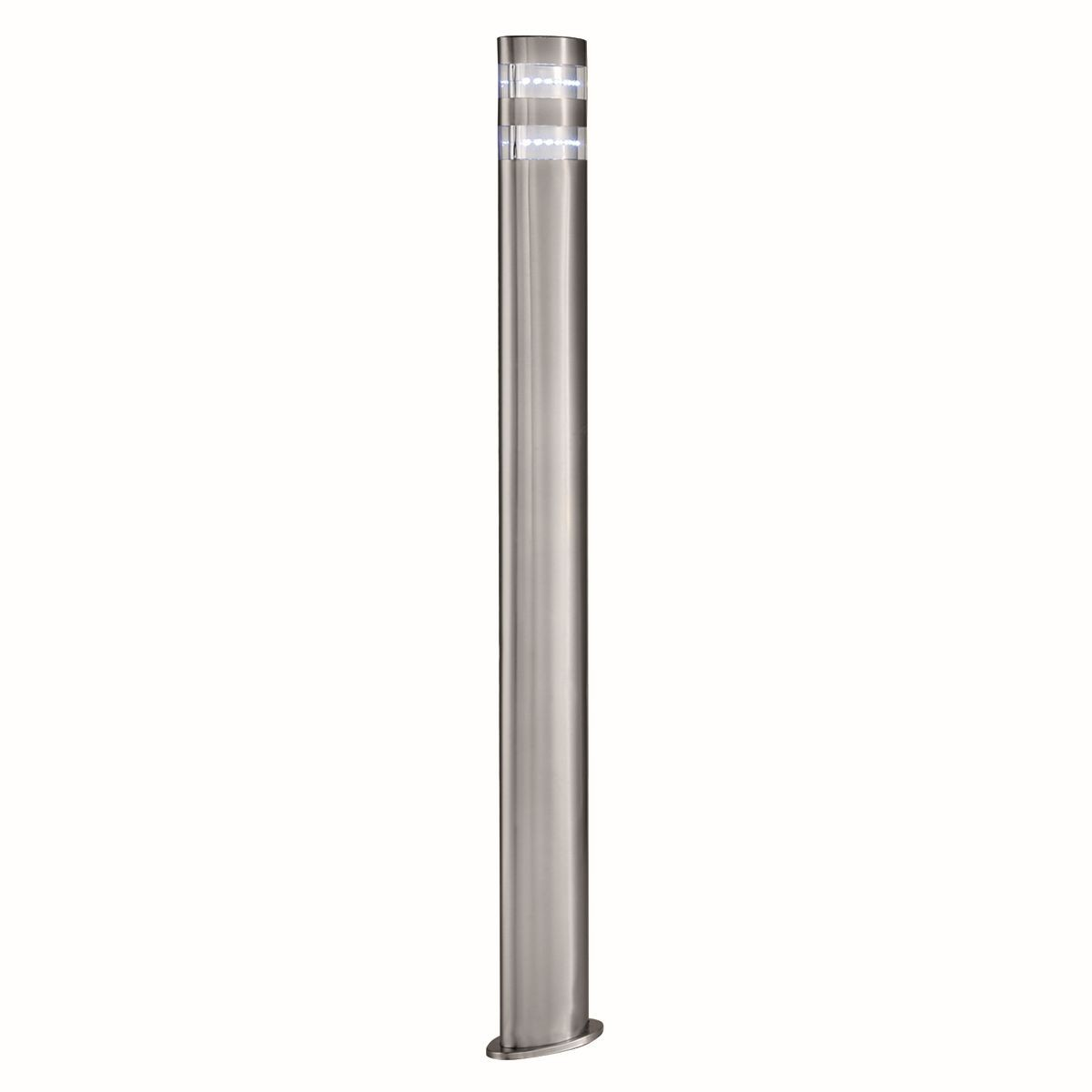 Outdoor Post Lights Led: 90cm Tall Satin Silver